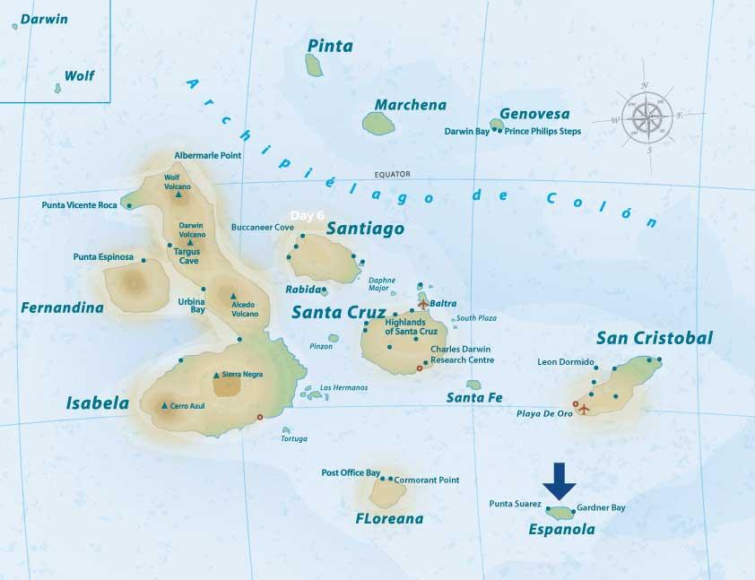 waved albatross location map