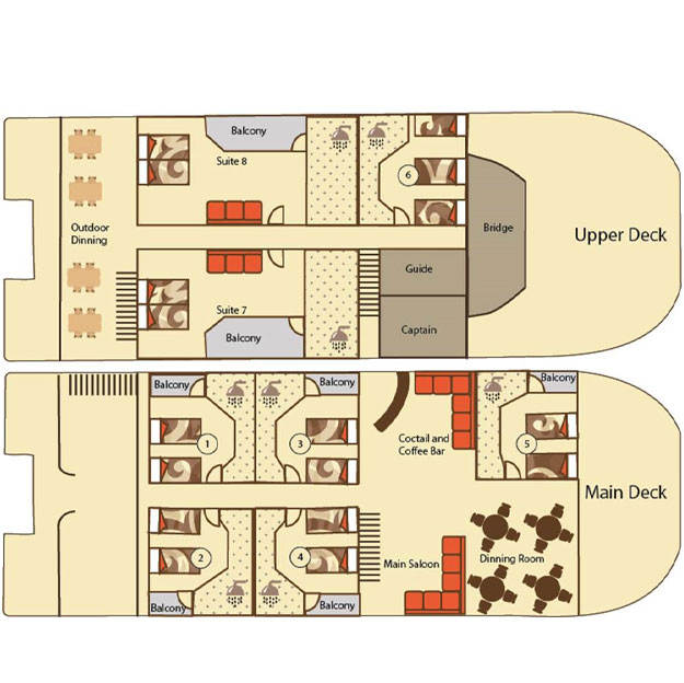 Millenium deck plan