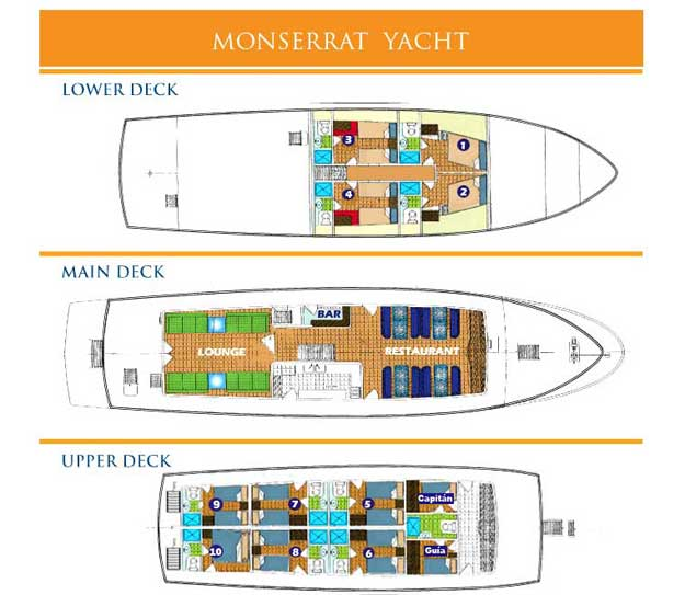 Monserrat Deck Plan