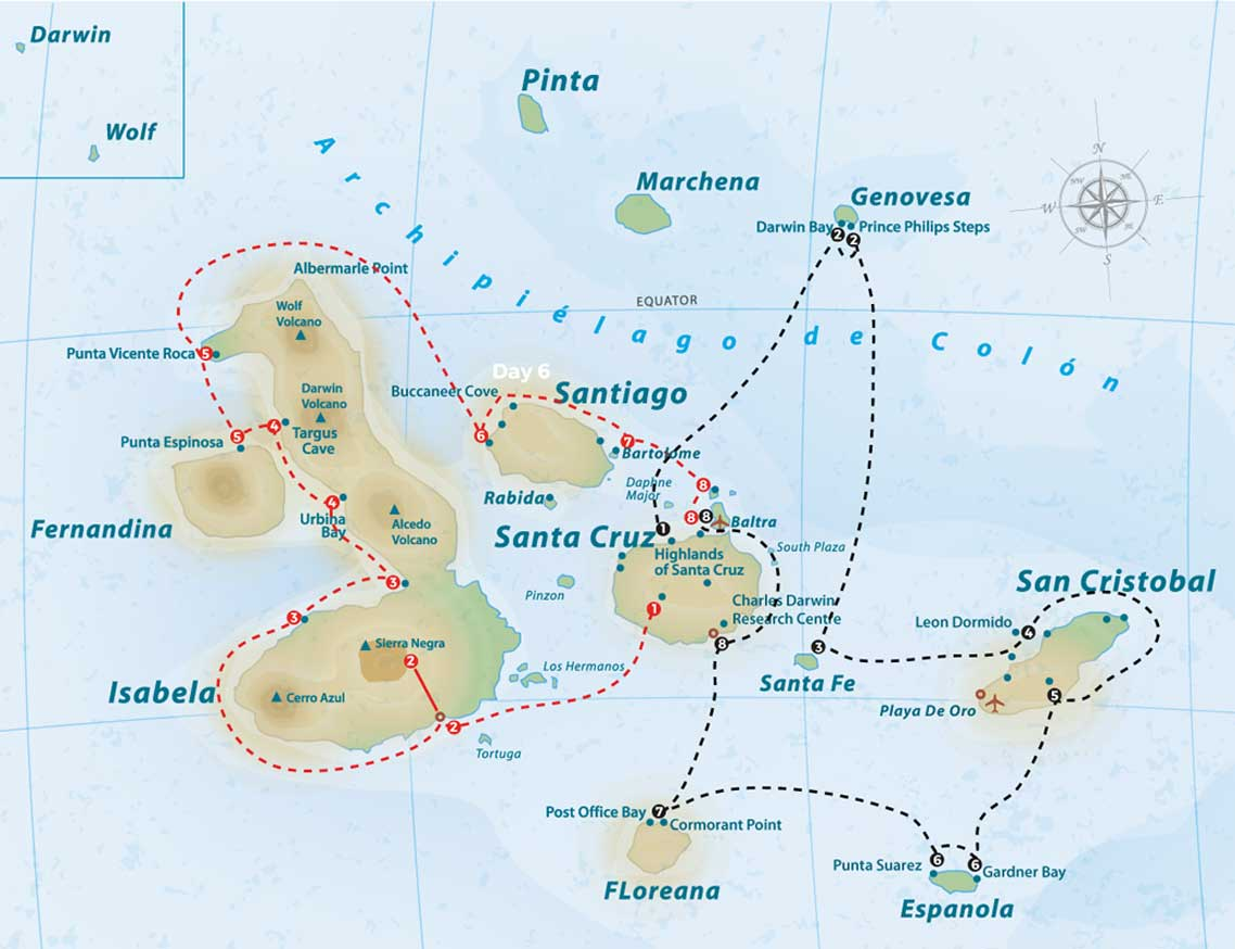 Anahi itinerary map