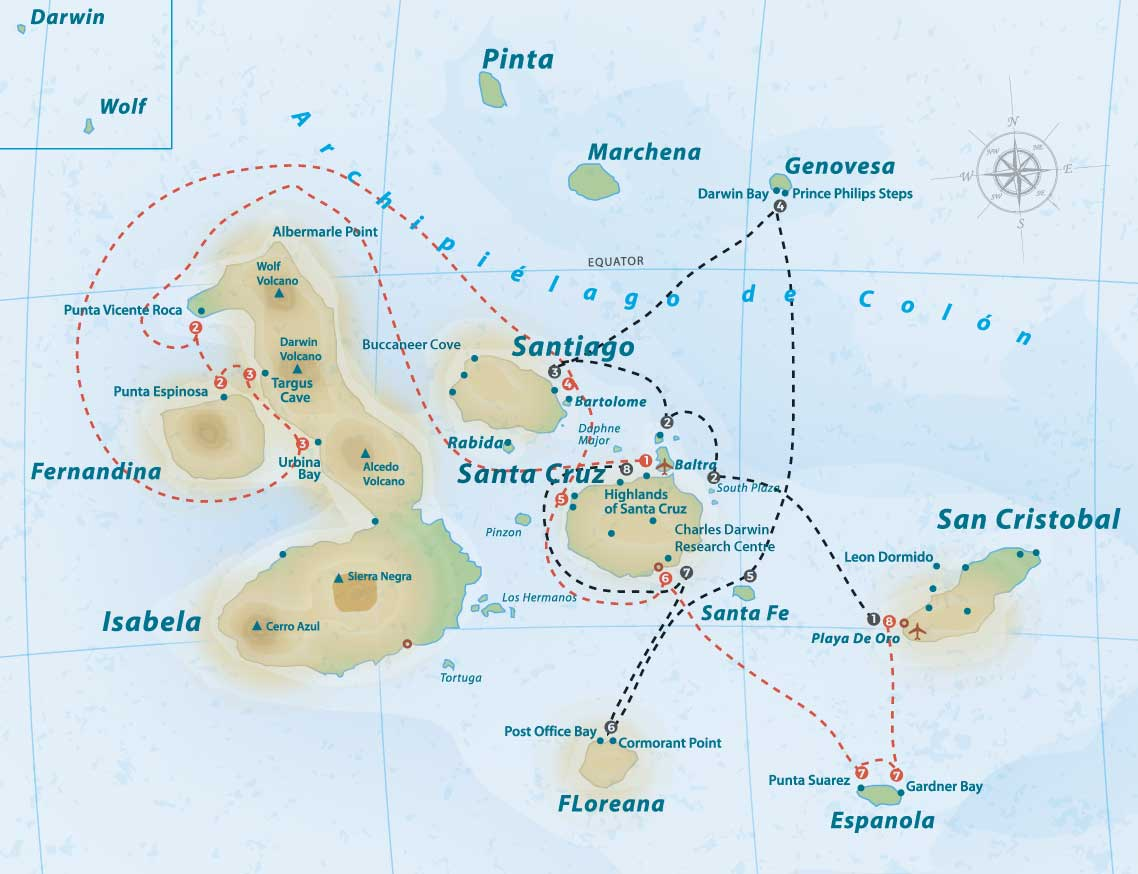 evolution-itinerary-map