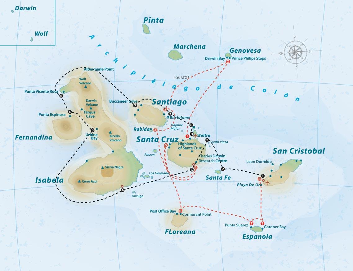 galaven-itinerary-map