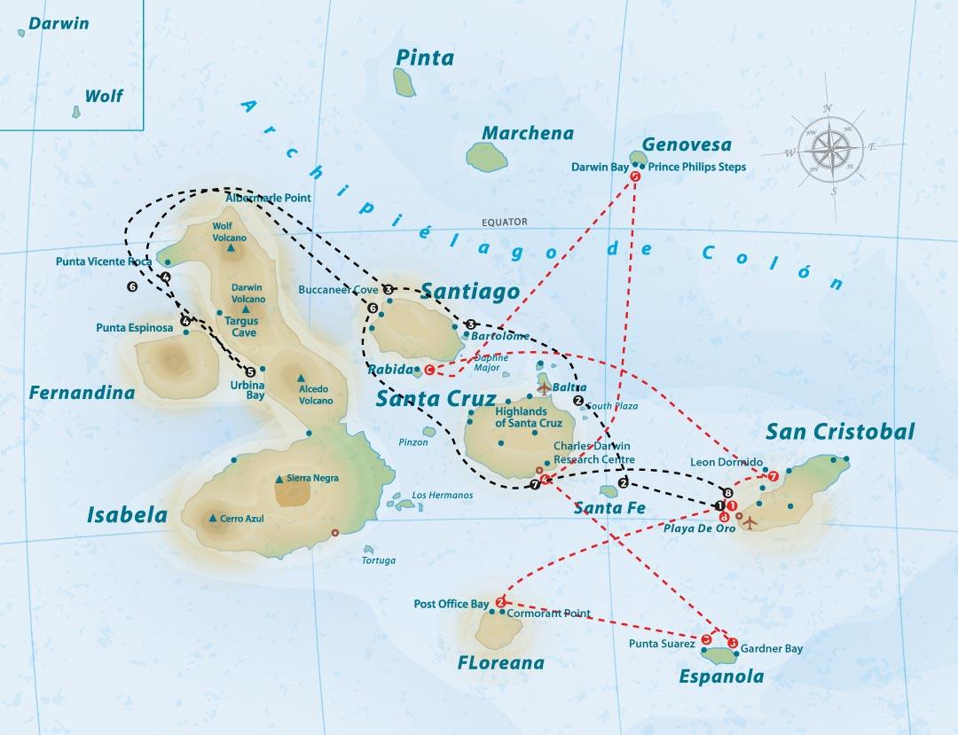 majestic-itinerary-map
