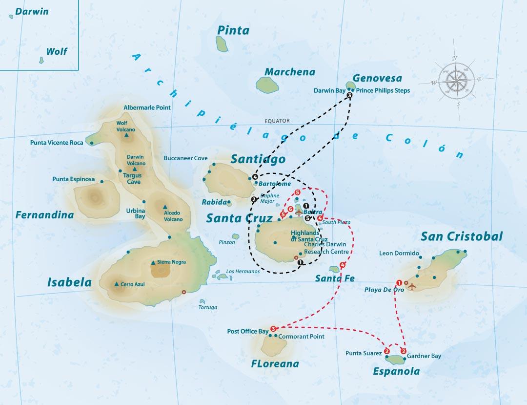 sea-star-journey-itinerary-map