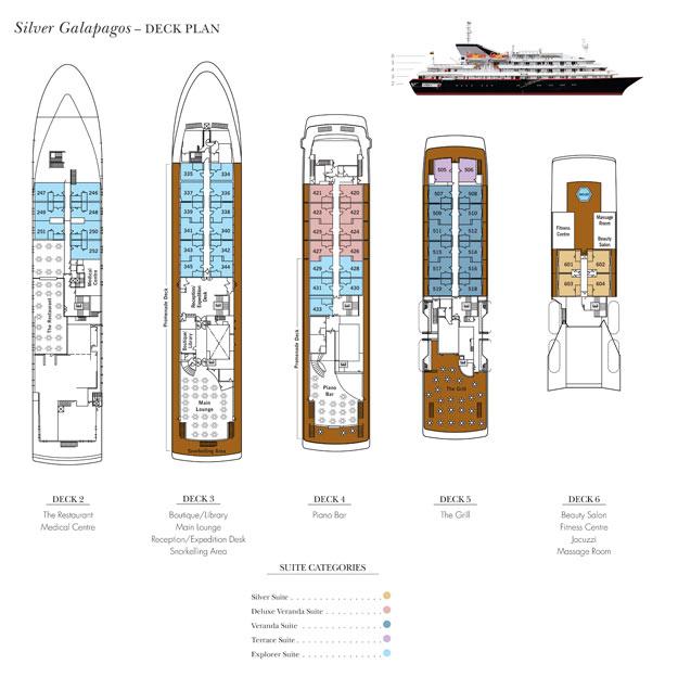siliversea-galapagos deck plan