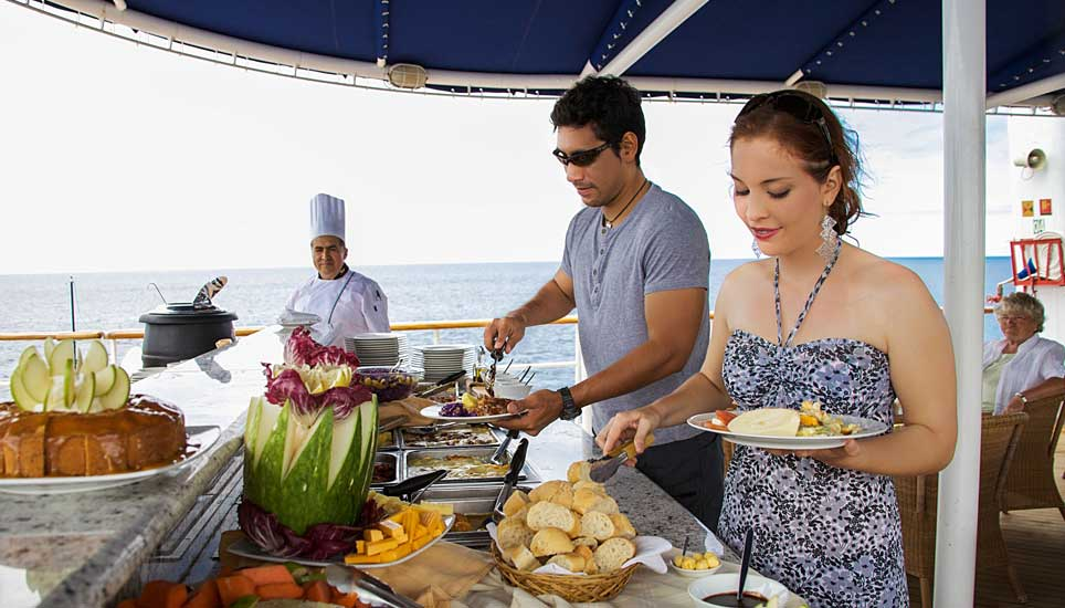 MV Isabela II buffet lunch