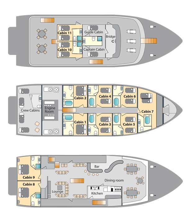 Galaven deck plan