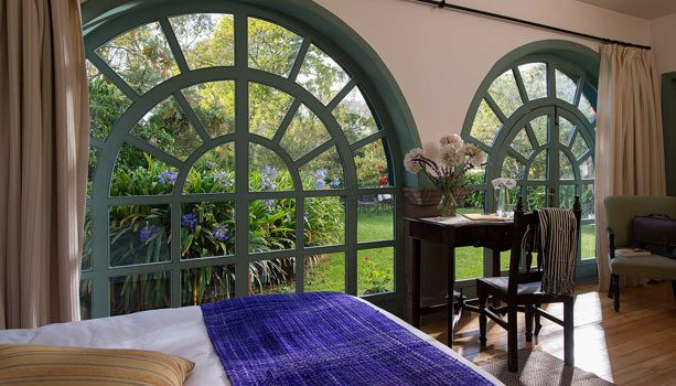 Room with view of garden