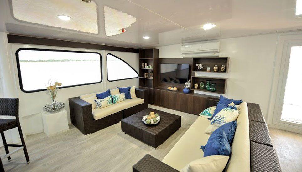 Galaxy II EcoCatamaran lounge