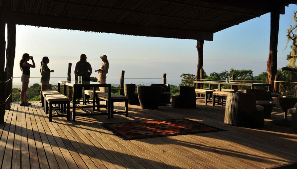 Galapagos Safari Camp decking and view