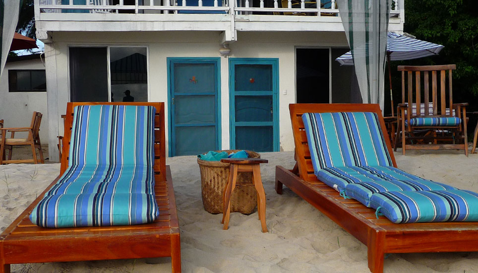 Isabela Beach House sun loungers